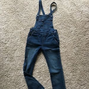 Free People Denim Overalls with FREE Graphic Tee